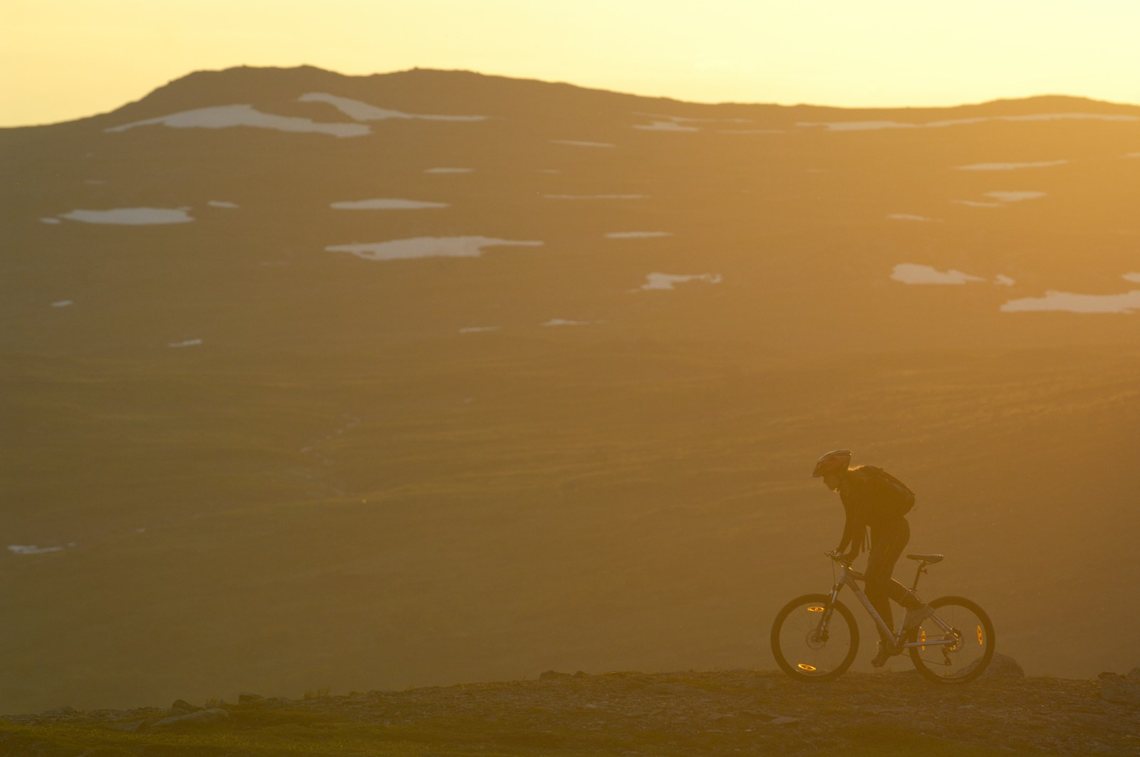 Midnight sun biking