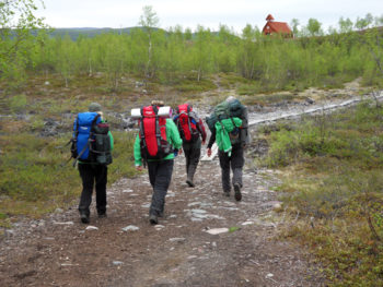 Image Bank Sweden - Sweden map trekking