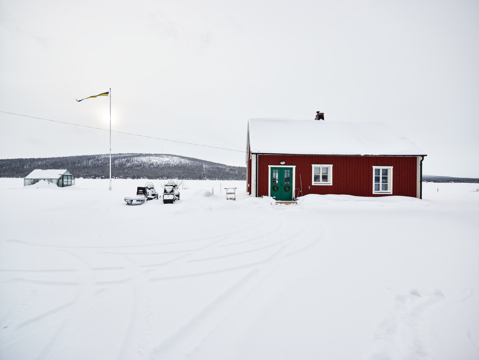 Winter in northern Sweden